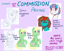 Commission Pricing Sheet for MLP OCs by InkBlu