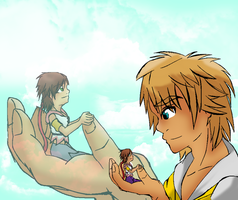 Tidus and Yuna by Kitrei-Sirto