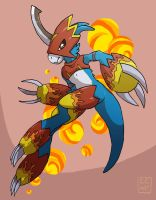 Flamedramon by go-ccart