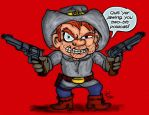 Montana Max as Jonah Hex by LeevanCleefIII