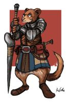 Ferret Knight by TheLivingShadow