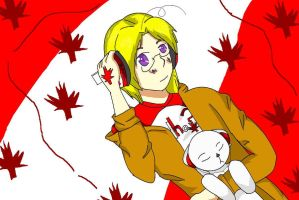 Aph- Canada loves music aswell by KohakuFox