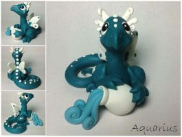Aquarius Dragon (fifth of 12 in series) by lizzarddesigns