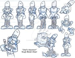 The Chef's Assistant model sheet by Animator-who-Draws
