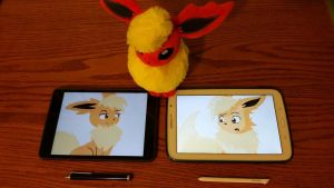 From Two Different Tablet Worlds by FlaranTheFlareon