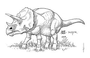 Triceratops by JeffDee