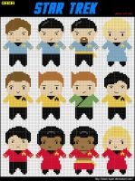 12 Mini Star Trek Cross Stitch by black-lupin