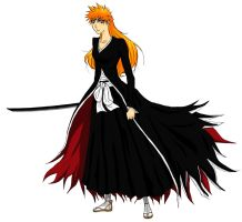 BGB Ichigo Bankai colored by Naru-Nisa