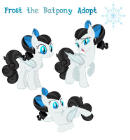 Frost the Batpony Adopt (Sold!) by Owl-Parchment
