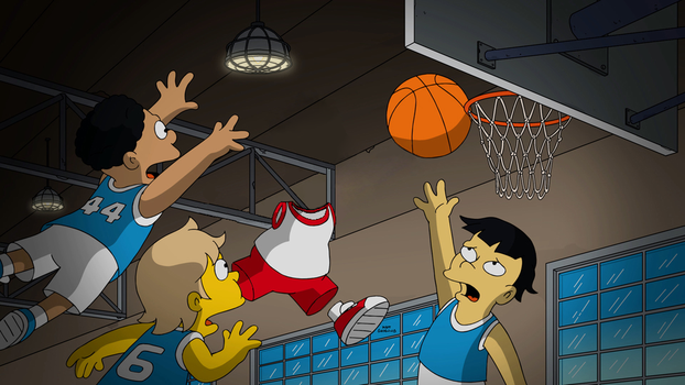 Invisible Basketball Bart Simpson by Arthony70100