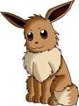 The fluffball, Eevee by WolfLover12321