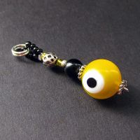 Jaundice Yellow Eyeball Charm by Gilliauna