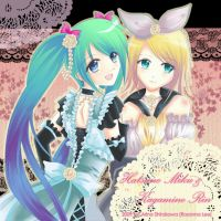 Vocaloid - Miku and Rin by Arina-Shirakawa