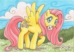 Shy Fluttershy by blightedangel