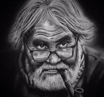 charcoal portrait by donnabe