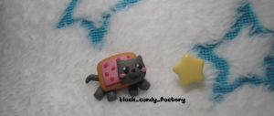 Mini nyan cat studs by gothic-yuna