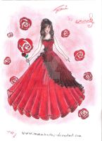 Crimson Rose(Dress Design) by monakadaj