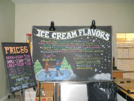 Winter ice cream board by Readmeabook21