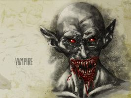 #31DaysOfMonsters Day 27: Vampire by franciscomoxi