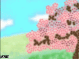 Sakura Tree Gif Day and Night by Deathday94991313