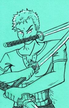 Zoro in Aqua by vicemage