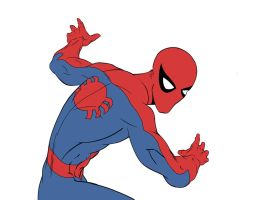 Spider-man colour - flats by Spidey1974