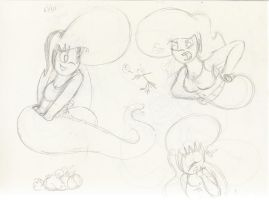 Laura Sketches - Jan 2011 by qwertypictures
