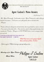 Agent Coulson Memos - Black Widow Message by TheQueenofLight