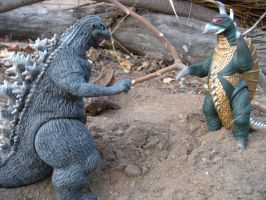 Godzilla Vs Gigan by PokepictureFigurefun