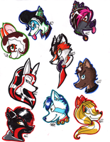 Fursona Busts by InvaderSonicMx