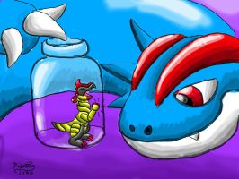 Haxorus in a bottle by PaintingTree