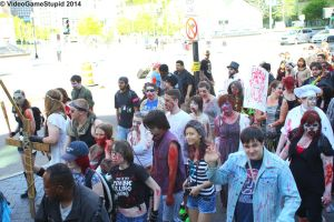 Boston Zombie March 2014 - Zombie March 11 by VideoGameStupid