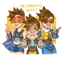 Fav Tracer skins .Overwatch by sexyfairy