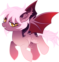 Custom Comm : Bat Pony by MimiPony