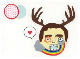 Reinbow deer by honeymoonspiders