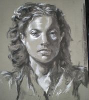 Charcoal Portrait by MJHinrichs