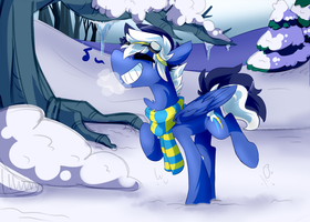 Out in the snow .:Commission:. by Neko-Snicker