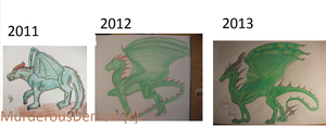 Green Dragon 2011-2012-2013 by MurderousDemon