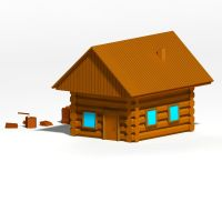 Wooden hut by PaulsenDesign3D