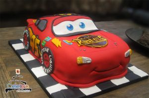 Lightening McQueen Cake by The-Nonexistent