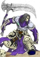 Darksiders 2 - Death coloured by Dastan-prince