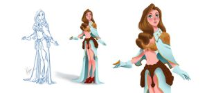 Healer girl concept design by artspell