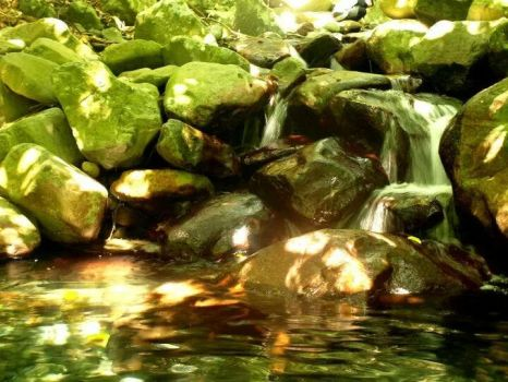 Rocks and water by Michawolf13