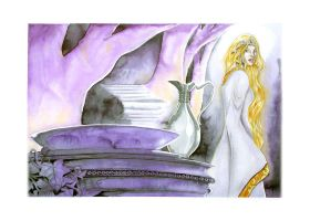 Feb2009 Painting - Galadriel by AndyIomoon