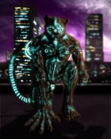 A'Kimther the Cyborg Panther by Night-Forager