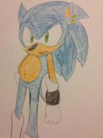 A New Sonic Drawing *By Antisonicpony by LukeVei-Da-Hedgehog