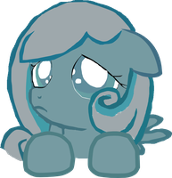 MLP: Snowdrop Looking Up by Rose80149