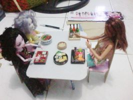 Trial part 2 for dining table and chair by seawaterwitch