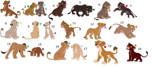 FREE !!!!!!!!!!!!!!!!! lion cub adoptables 11 by knowitall123-adopts