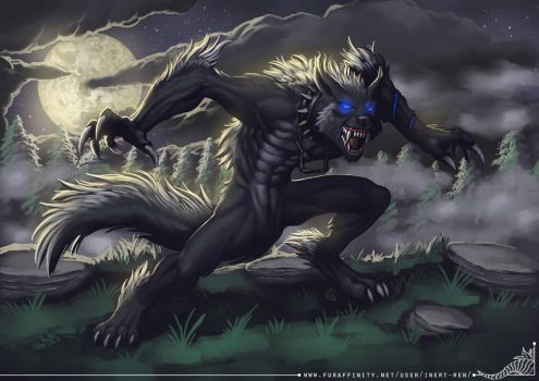 Alex Werewolf Commission by StriderDen